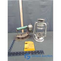 Gas Iron, Metal Meva Lantern (Missing Pieces) and Central Rain Gage (Missing Gage)
