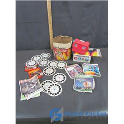 Vinatge GAF View-Master Gift Pak with Slides and Two Walt Disney Home Movie Reels (Muppet Movie, Sno