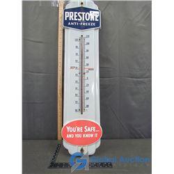 """36"""" Porcelain Preston's Anti-Freeze Thermometer"""