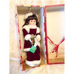 Christmas Doll & Wardrobe Suitcase