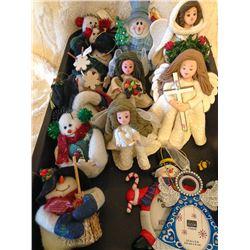 Christmas Angel & Snowman Ornaments