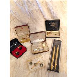 (2) Sets of Men's Cuff Links & Pen Set
