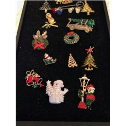 (14) Christmas Brooches