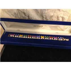 Multi-Coloured Crystal Bracelet