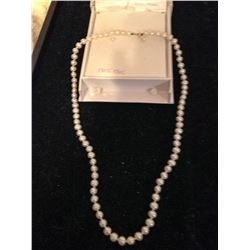 Genuine Pearl Necklace & Earrings