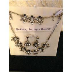 Super Glitzy Necklace, Earrings & Bracelet
