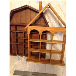 (2) Wooden Knick Knack Shelves TWO TIMES THE MONEY