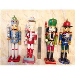 (4) Large Wooden Nutcrackers