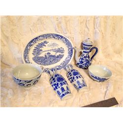 Blue/White China Lot