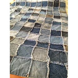 Denim Reversible Handmade Quilt