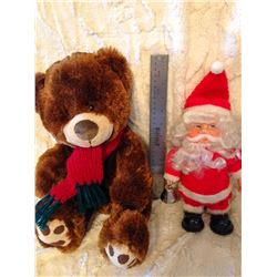 Musical Santa w/Motion & Christmas Bear