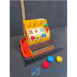 Vintage Fisher-Price Cash Register w/ Play Coins