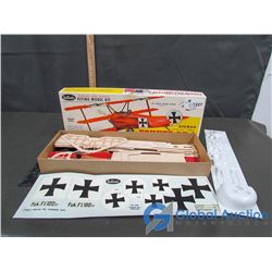Guillow's Fokker DR-I Triplane Balsa Model
