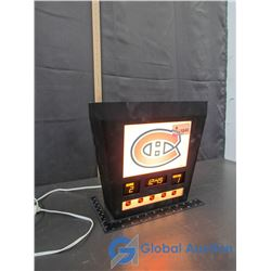 Working Montreal Canadiens Scoreboard Wall Light