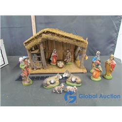 12 Piece Hand Painted Nativity Set w/ Original Box