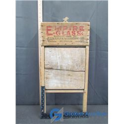 Vintage Advertising Glass Washboard
