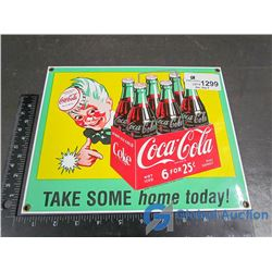 Reproduction Porcelain Coca-Cola Sign