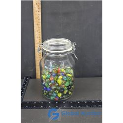 Glass Jar of Marbles