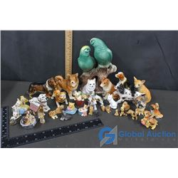 Various Animal Ceramic Figurines
