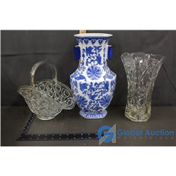 Crystal Clear Glass and Ceramic Home Decor