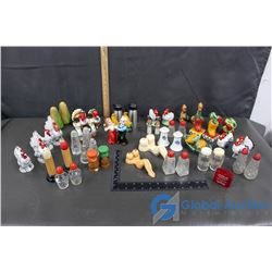 Various Salt and Pepper Shakers