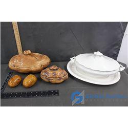 Ceramic Kitchenware Potato Themed