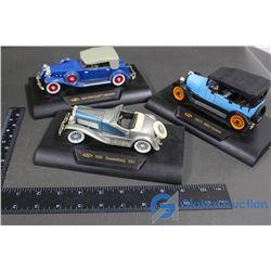 (3) Vintage Model Cars