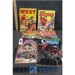 (4) Vintage Westerns, The Bozz Chronicles and Conan Comics