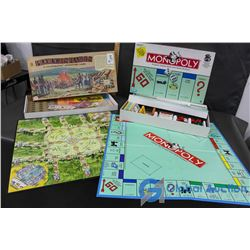 Monopoly and Ploughshares Board Games