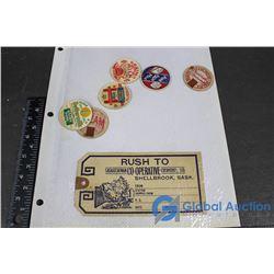 Vintage Milk Carton Seals