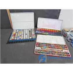 (3) Vintage Tin Lithographed Watercolor Sets