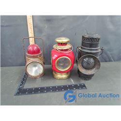 (3) Metal Lanterns