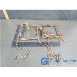 (2) Vintage Traps