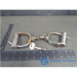 Vintage Hand-Cuffs with Key