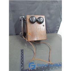 Vintage Wooden Telephone
