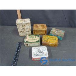 (6) Tobacco Tins