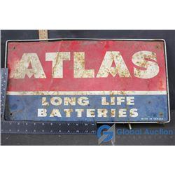 Atlas Metal Sign