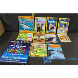 Kids Books, Stamps and Pencils