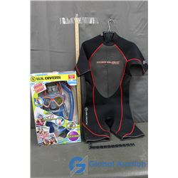 Scooba Gear and Body Glove Wet Suit