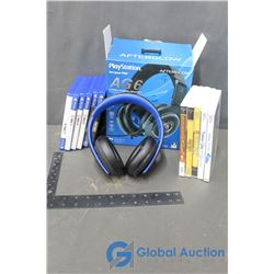 Sony PS4 Head Phones and Various Games