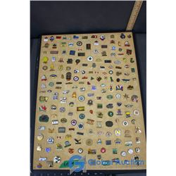Lapel Pins on Bulletin Board