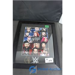 WWE VIP Experience Framed Picture Autographed by Seth Rollins