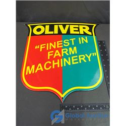 "Oliver ""Finest In Farm Machinery"" Porcelain Sign"