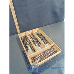 Wooden Box Of Drill Bits