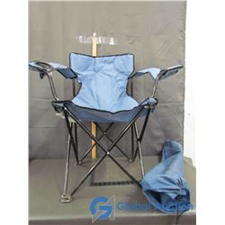 Lawnchair in Carrying Bag (Blue)