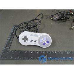Super Nintendo Game Controller & Nintendo Switch Cord, Sony Playstation Cords (2)