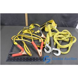 Tow Rope, Booster Cables, Heavy Duty Tie Down Straps