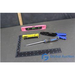 2 Wire Stripper Tools, Small Level, Mastercraft Screwdriver