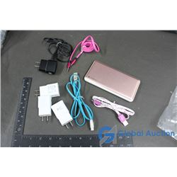 Mophie Charge Bank, Earphone Cord, Samsung Adaptors & Cords