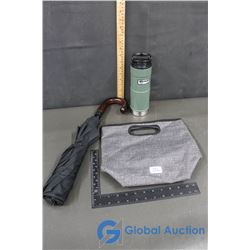 Lunch Bag, Ira Umbrella, Stanley Coffee Travel Cup